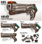 Commission: HR.49 Hybrid Revolver by aiyeahhs