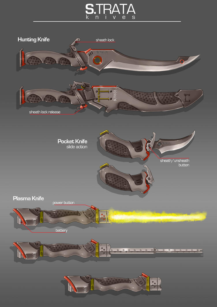 Commission: S-TRATA Knives by aiyeahhs