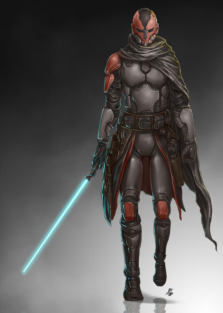 Commission: Mandalorian by aiyeahhs