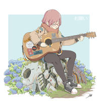 Guitar Girl by aiyeahhs