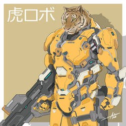 Mecha Animals : Tiger by aiyeahhs