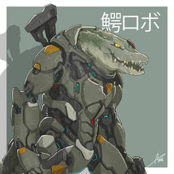 Mecha Animals : Crocodile by aiyeahhs