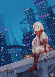 Commission: Cecilia Cyberpunk