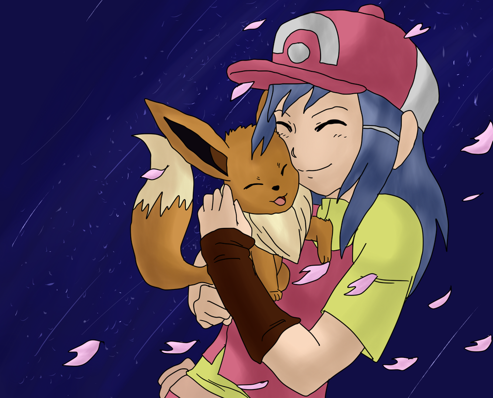 Kasumi And Eevee by Shadows-of-Trinity
