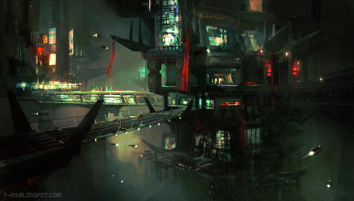 Sci Fi City - CGMA by M0nkeyBread