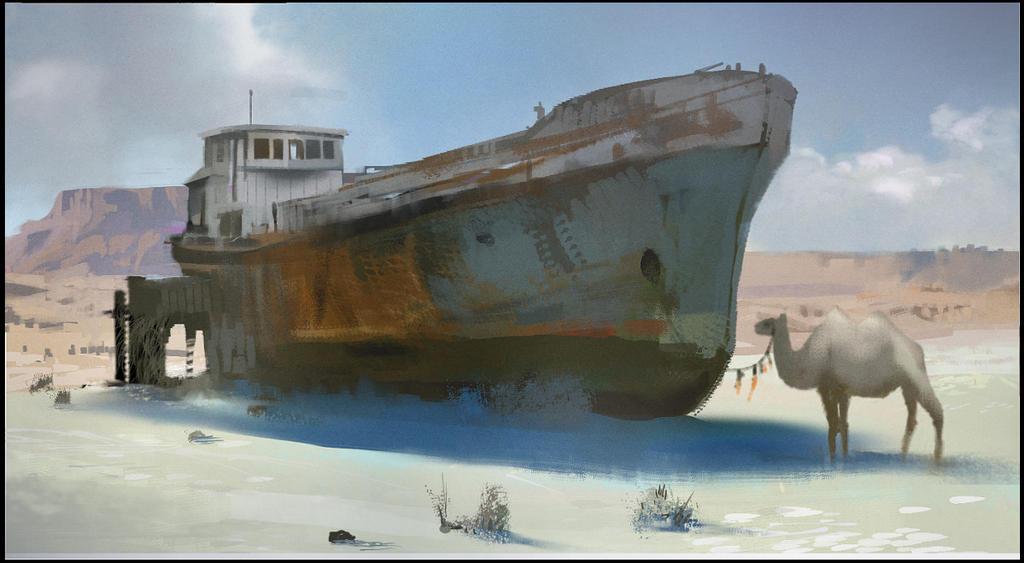 2014.01.01 Desert Ship by M0nkeyBread