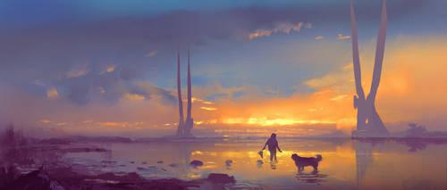Sunset lagoon by M0nkeyBread