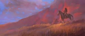 lone rider by M0nkeyBread