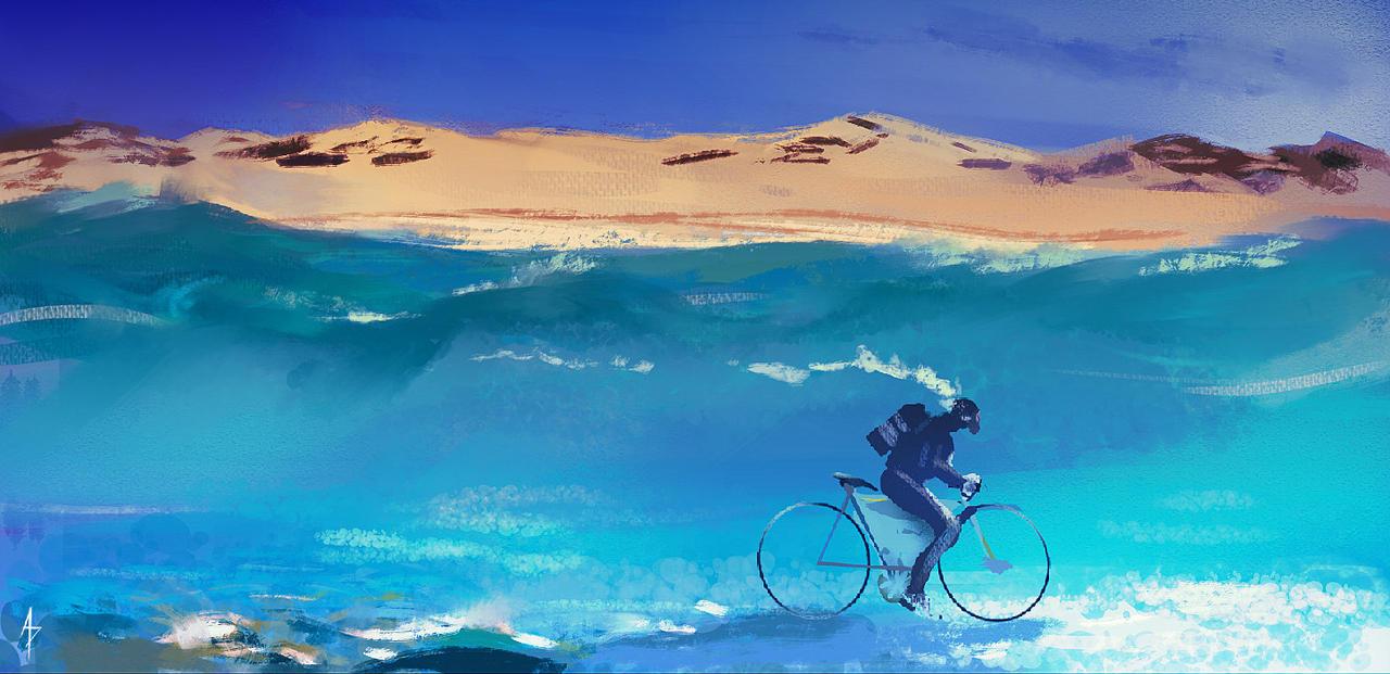 16.01.07 Riding Along Beach2 by M0nkeyBread