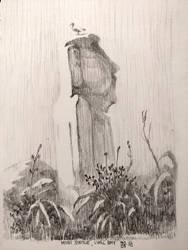 Sketch: Moai Statue by M0nkeyBread
