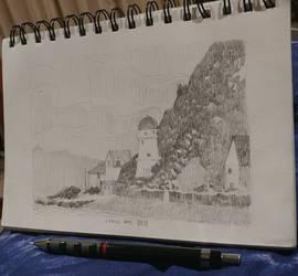 Sketch: Lyall Bay by M0nkeyBread