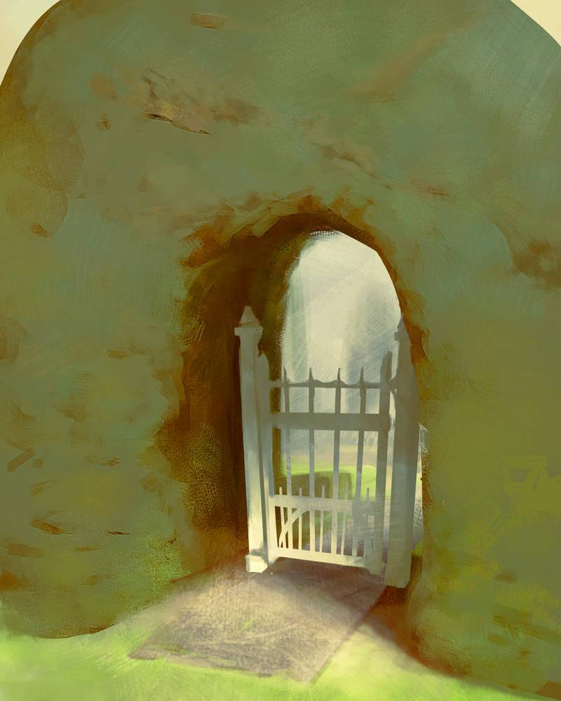 Sketch:  Garden Gate by M0nkeyBread