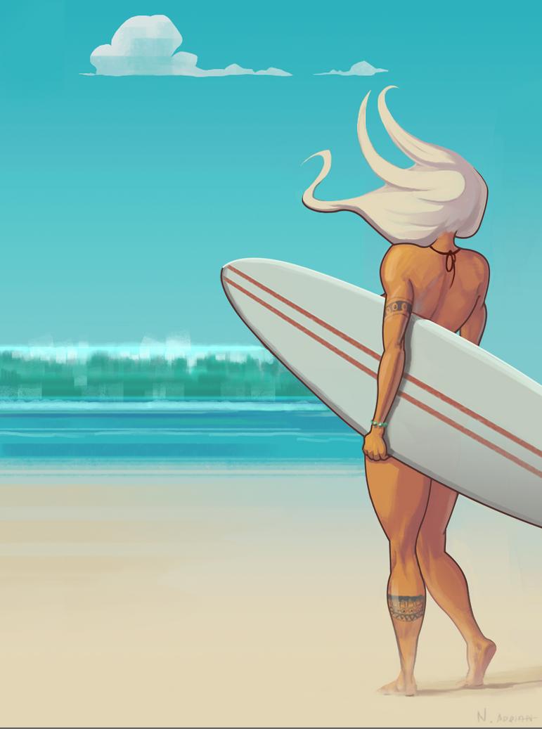 Surf Chic 29x39 by Cruelus