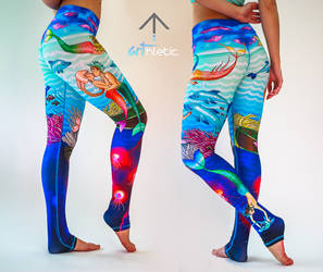 Under the sea hand-made leggings by karby-licious