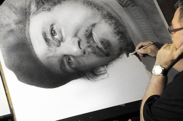 Drawing of Clint wip XII by arminmersmann