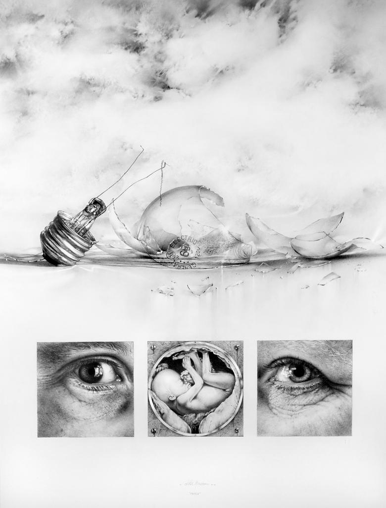 Fragile _ pencil drawing by nimra