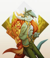 The Warm and Cool Couple by ben-ben