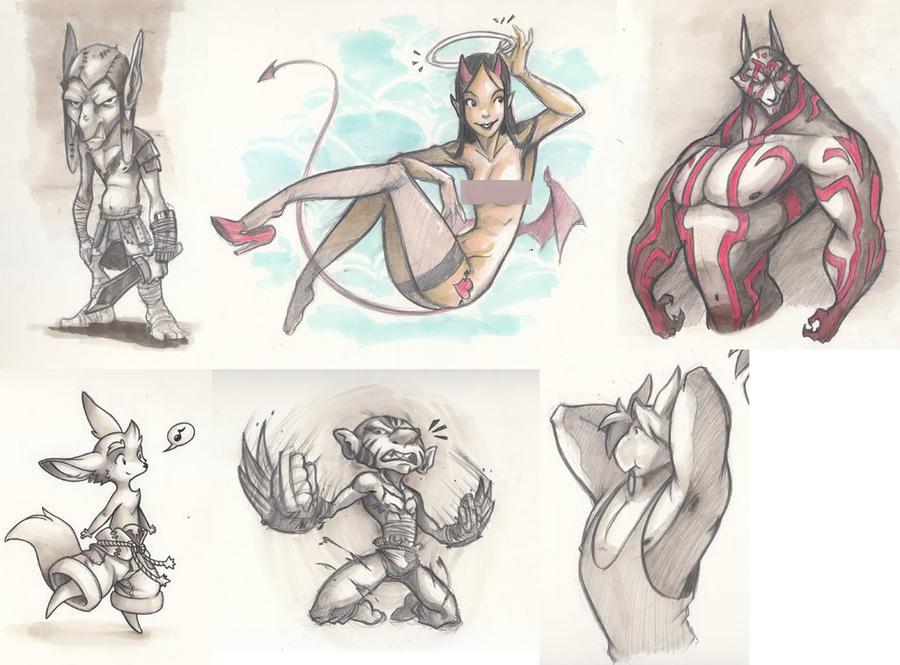 Sketches 22/03/2014 by ben-ben