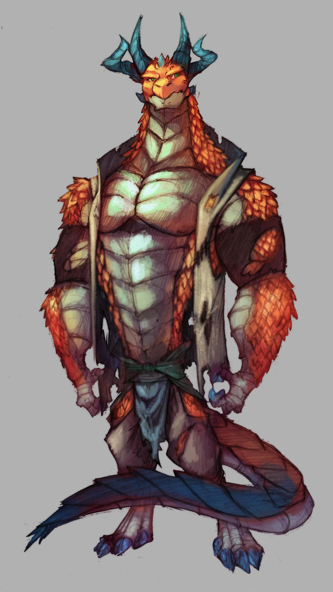 Digital Practice  Dragon Brawler by ben-ben