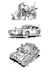 Vehicle Sketches. by muzzoid