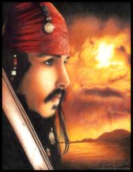 Jack Sparrow Color Portrait by toxicdesire