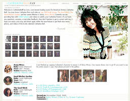 Catherine Bell Layout by toxicdesire