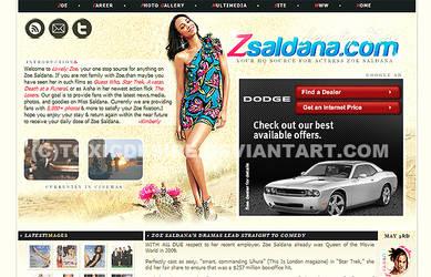 Zoe Saldana Layout by toxicdesire