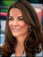 Kate Middleton Colorpencil by toxicdesire