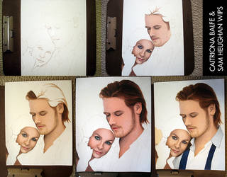 Caitriona Balfe and Sam Heughan WIP