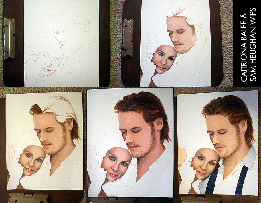 Caitriona Balfe and Sam Heughan WIP by toxicdesire