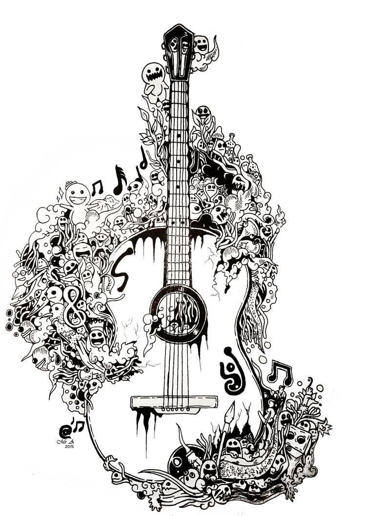 Guitar Doodle Ariefbionicgs Deviantart