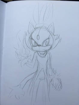 Blaze the Cat- sketch