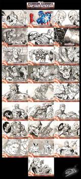 Captain America Sketch Cards 2