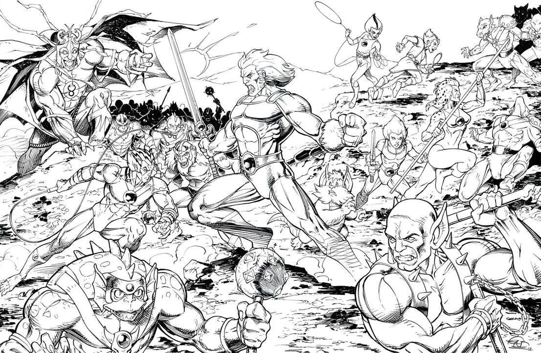 thundercats inks by saviorsson - Thundercats Coloring Pages To Print