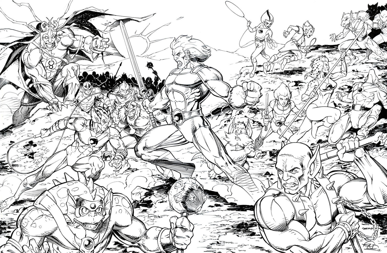 thundercats coloring pages eassume com eassume - Thunder Cats Coloring Book Pages