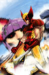 Wolverine VS. Sentinel- colors
