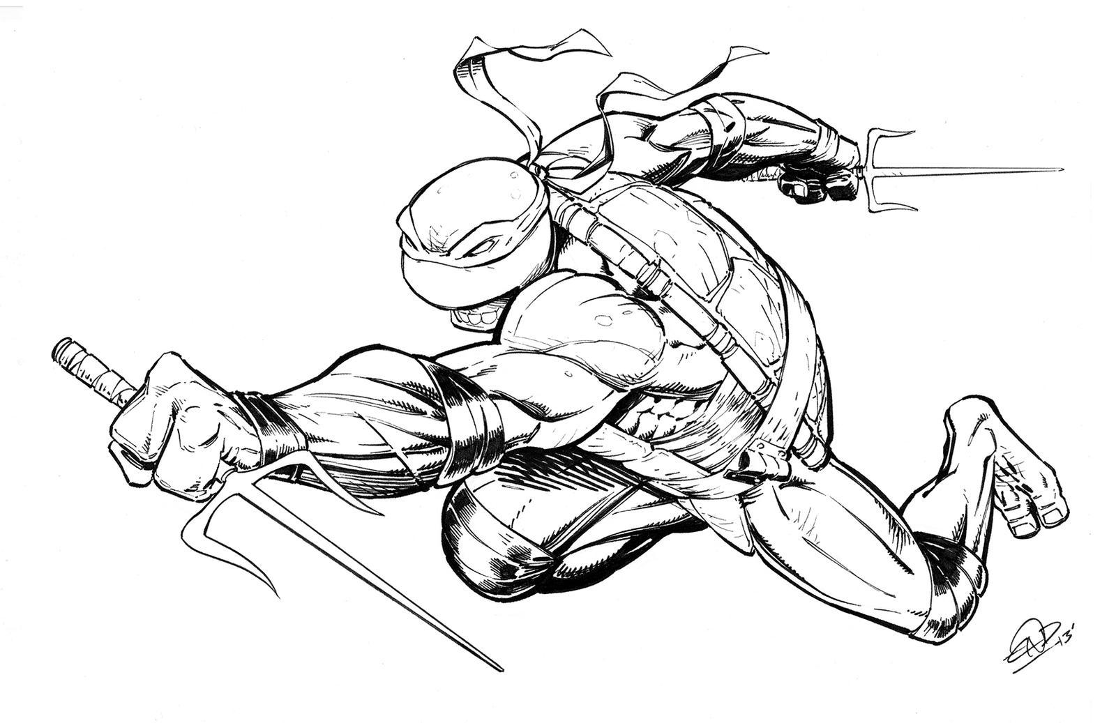 Teenage mutant ninja turtles rafael inks by saviorsson on for Tmnt coloring pages