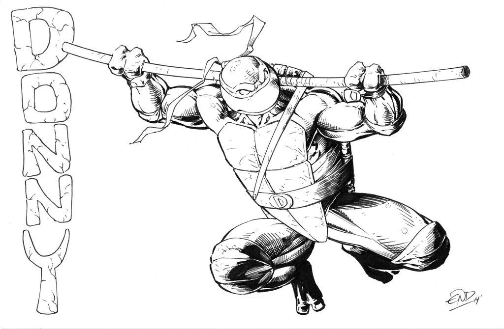 Donatello Inked by SaviorsSon