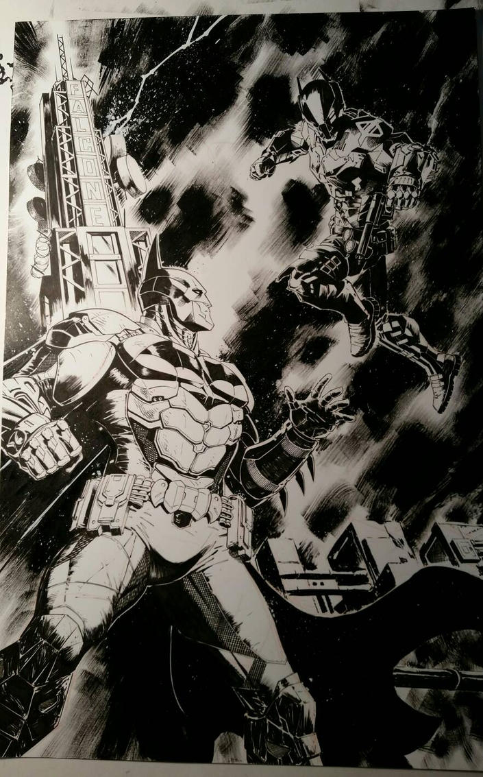 Batman: Arkham Knight Inks by SaviorsSon