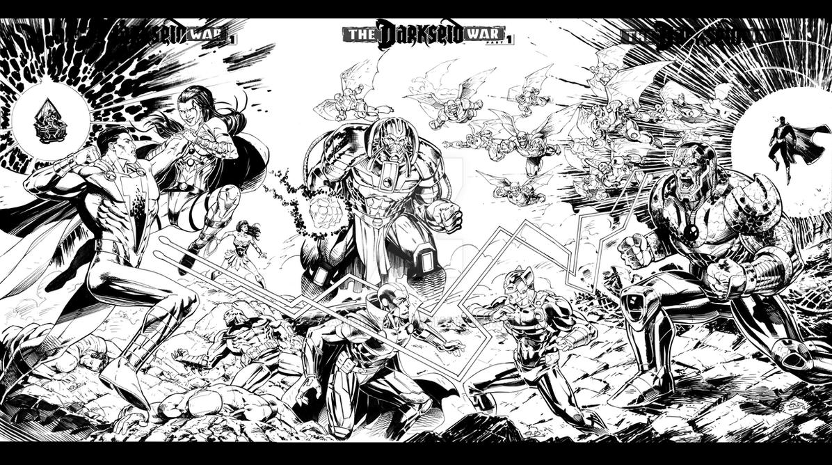 Justice League Darkseid War- Sketchcover All by SaviorsSon