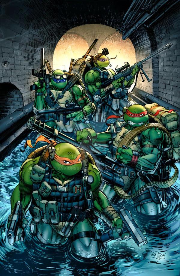 Tmnt -Seal Team Turtles Colors by SaviorsSon