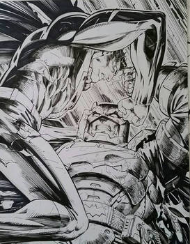 Batman vs Superman Inks