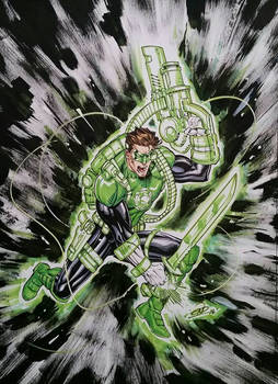 Green Lantern Geared Up