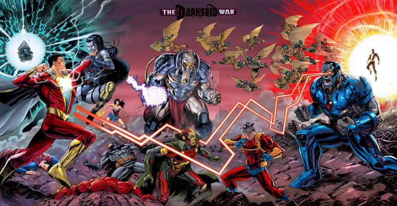 JusticeLeague DarkseidWar Sketchcover colors
