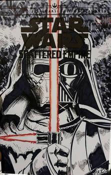 Star Wars sketchcover Darth Vader n Kylo Ren
