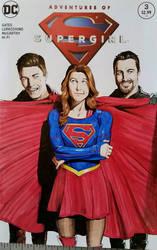 Supergirl Sketchcover  by SaviorsSon