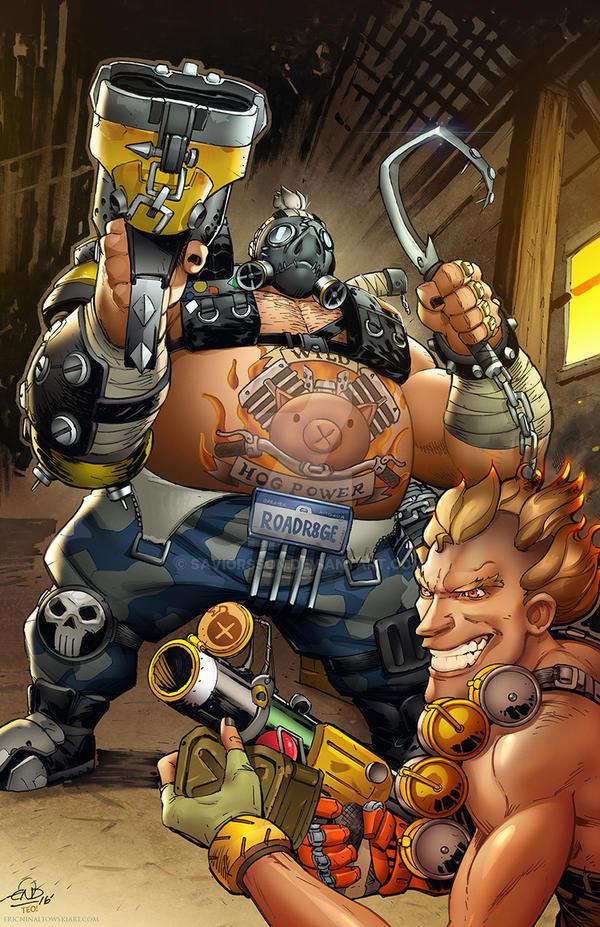 Roadhog n Junkrat Overwatch Art by SaviorsSon