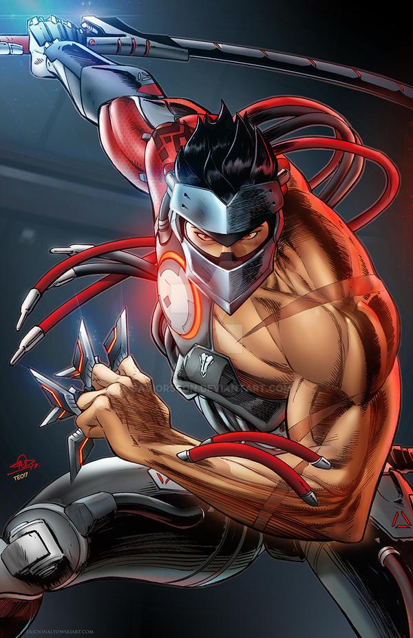 Genji Blackwatch Overwatch Art by SaviorsSon