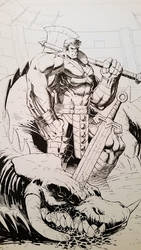Planet Hulk inks by SaviorsSon