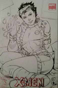 Xmen Jubilee Inks Sketchcover